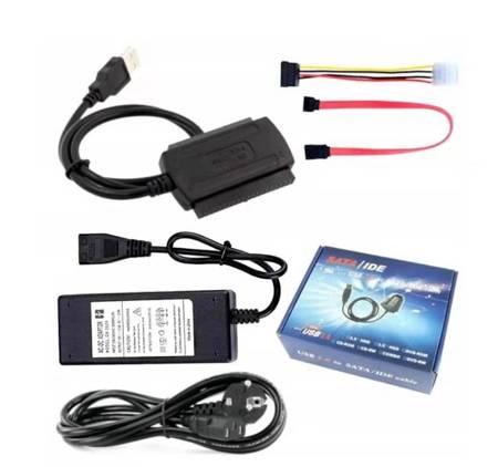 Adapter USB IDE 3,5'' 2,5'' SATA, ATA + ZASILACZ