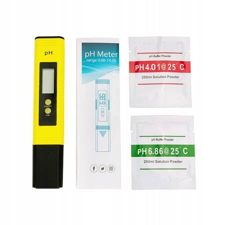 ELEKTRONICZNY MIERNIK pH Autokalibracja Tester ATC
